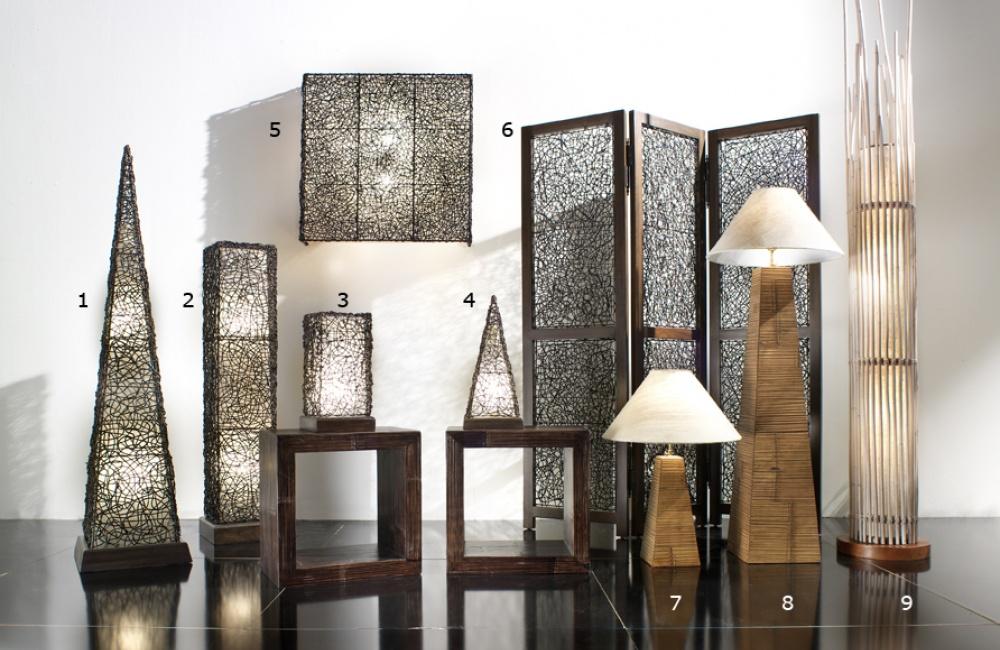 Lampade a stelo e applique casa del bambù