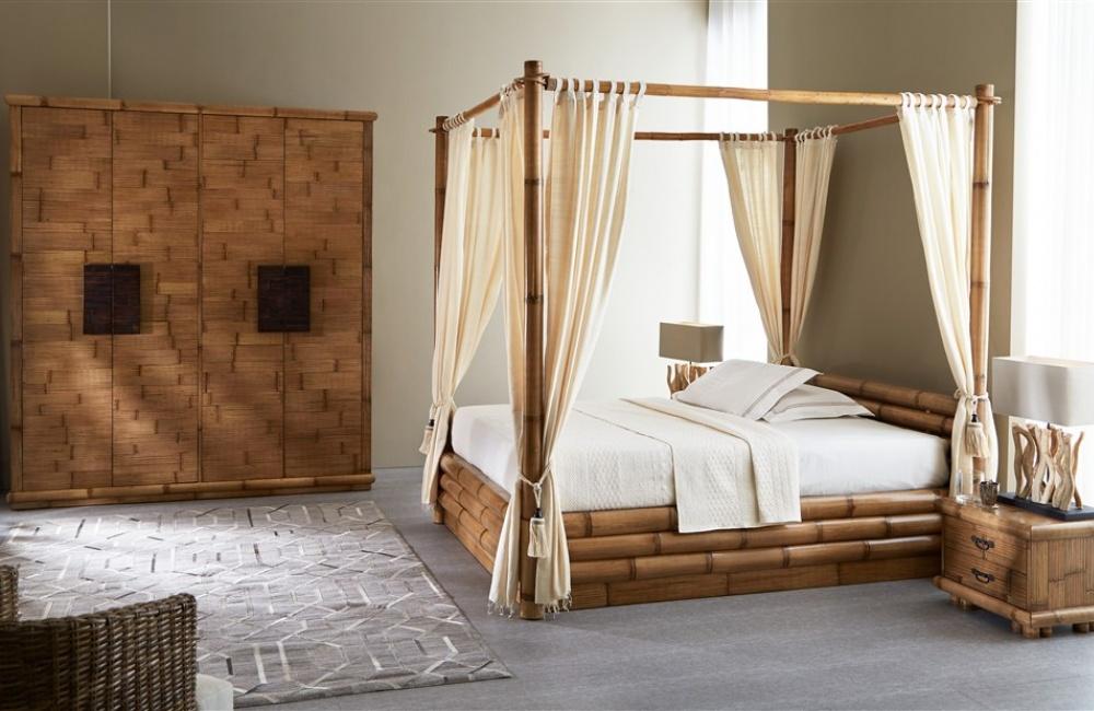 Letto Matrimoniale Monsoon Baldacchino - Casa del Bambù